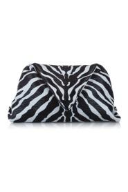 Zebra Print Envelope Leather Clutch Bag