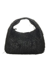 Pre-owned Intrecciato Fringe Netted Leather Hobo Bag