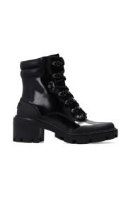 Lug-Sole Hiker heeled ankle boots