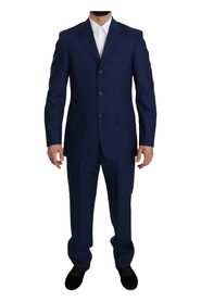 Solid  Two Piece 3 Button Suit
