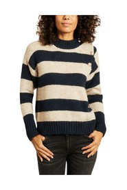 Miaki striped sweater with buttons