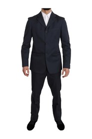 Two Piece Button Solid Suit