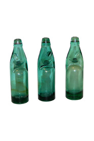 3 x Originale gamle glas flasker