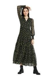Vestido Longo com Estampado Floral