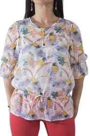 Blouse with pineapple pattern
