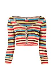Striped Crop Cardigan