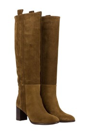 Velor boots with side band