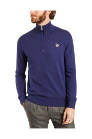 Lynlås krave logo sweater