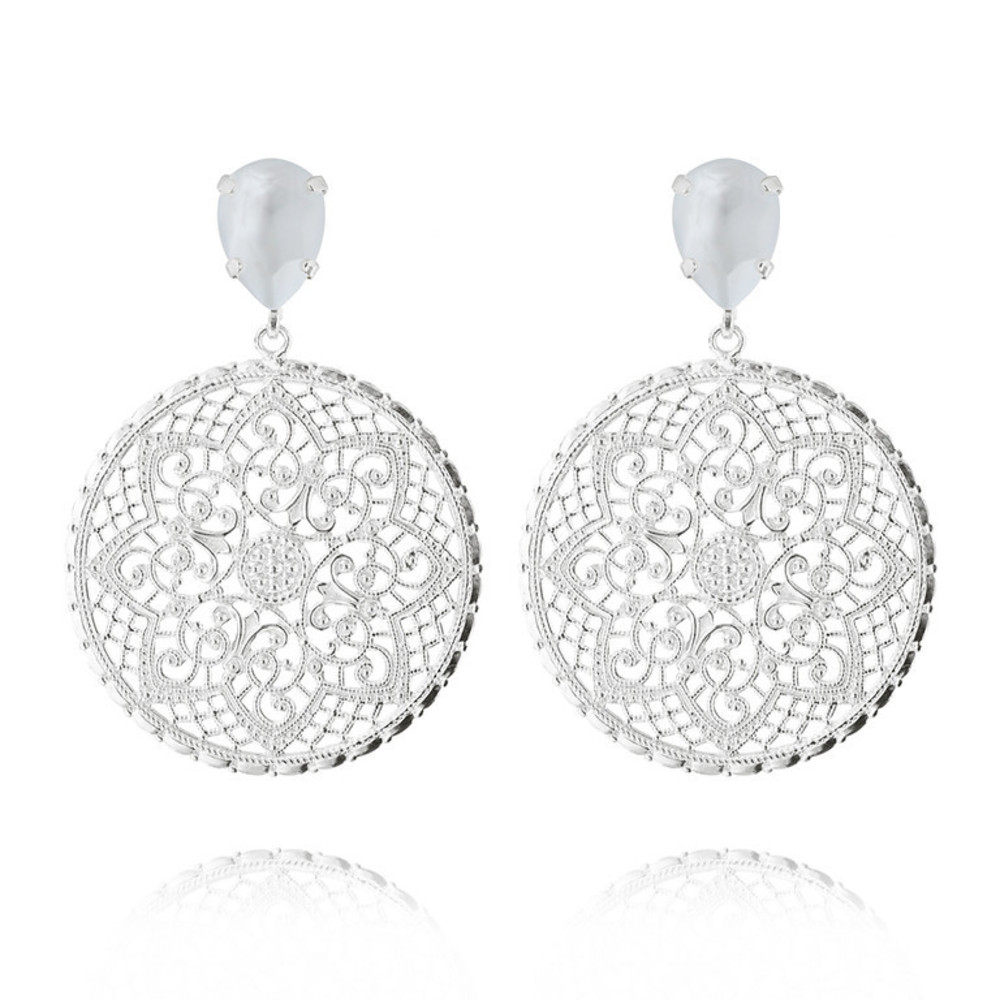 Alexandra Earrings powder blue silver - Caroline Svedbom