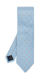 Patterned tie with logo
