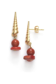 Turret Shell Earrings Accessories
