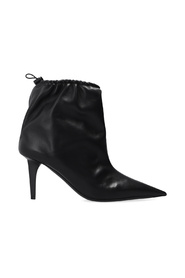 Scrunch Leather Ankle Boots