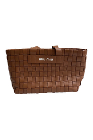 Pre-owned Brown Woven Napa Leather Tote Bag