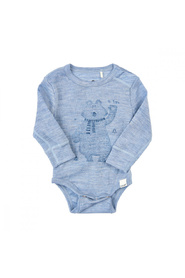 Celavi body merinoull bjørn dusty blue