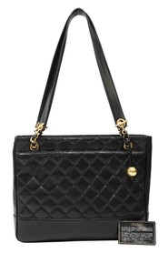 Quilted Tote Chain Shoulder