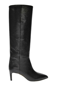 Stiletto Boots in Lizard Effect Leather