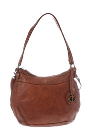 Ninita leather bag with short and long strap