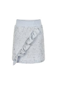 Creamie - Skirt Sweat Silver Print (821081) - Xenon Blue