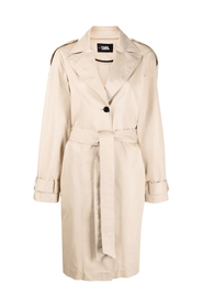 Trench Coat with Logo Tape