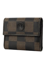 Pre-owned Square Logo Flap Wallet