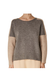 wide neckline sweater with sleeve