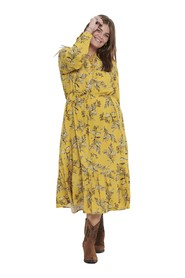 Carspring Ls Calf Dress - Golden Apricot, 42