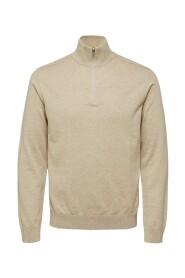 Slhberg Cardigan-jakke med halv lynlås