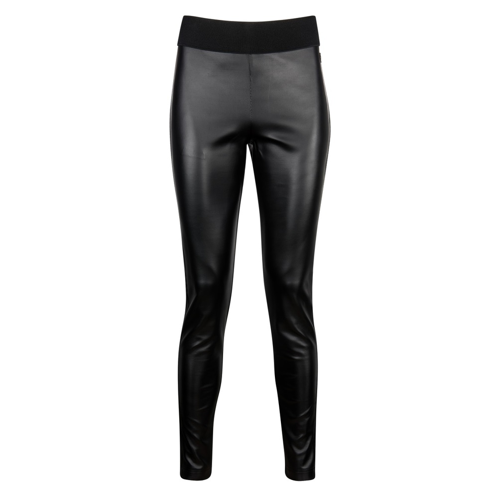 GES PANTALON LEATHER zwart