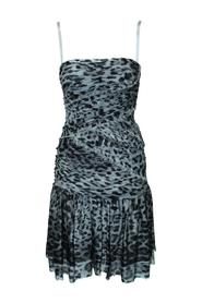 Animal Print Party Mini Dress Pre Owned Condition Very Good
