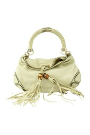 Pre-Owned Bamboo Tassel Hobo Bag Condition Very