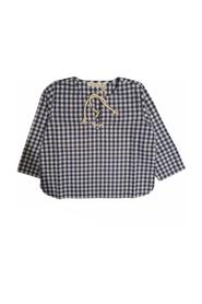 CHECKED SHIRT WITH NECK LACES