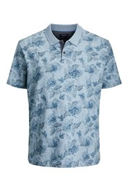 Plus size polo Bloemenprint
