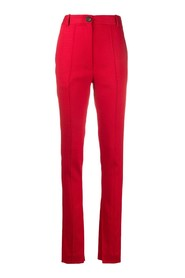SKINNY ANKLE-SLIT PANTS