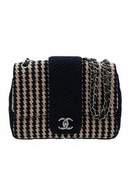 Pre-owned Knit Tweed Elementary Chic Small Flap Bag