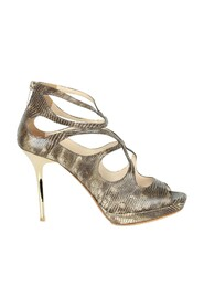 Snakeskin Caged Heels -Pre Owned Condition Very Good