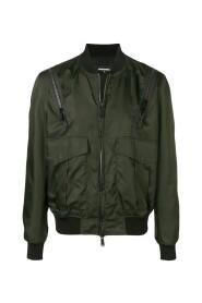 Shoulder Zipper Bomber Jacket