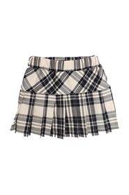 PLEATED SKIRT WITH A CHECK PATTERN
