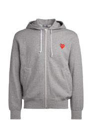 PLAY grey fleece with red heart