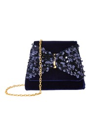 Sequin Bow Velv Accz Bag