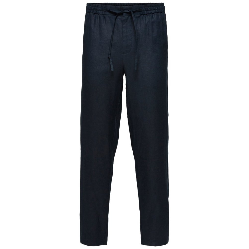 Tapered fit linen Trousers