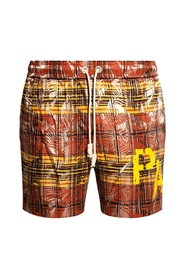 Patterned shorts with logo