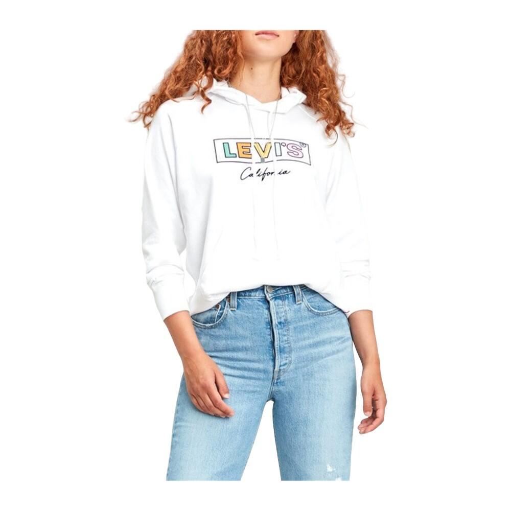 LEVIS 35946 0120 SPORT HOODIE SWEATER Women WHITE  Levi's  Hoodies