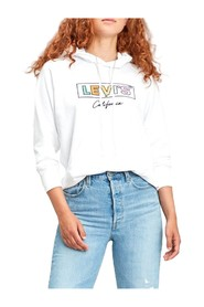 LEVIS 35946 0120 SPORT HOODIE SWEATER Women WHITE