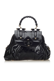 Bamboo Patent Leather Satchel