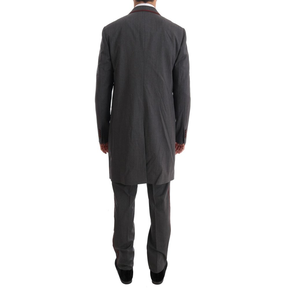 Dolce & Gabbana Grey Wool Stretch 3 Piece Two Button Suit Dolce & Gabbana