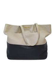 Tvåfärgad handväska i shopper