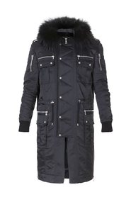 Buttoned Parka Coat