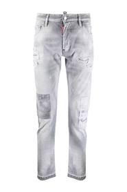 Ripped-Detailing Low-Rise Skinny Jeans