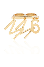 Double ring with charm