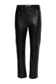 Straight Up Slim Leather Pants